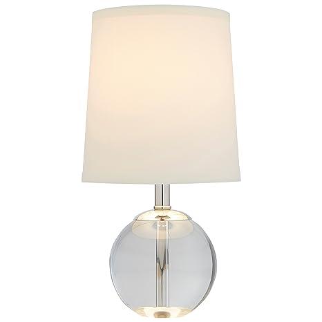 Stone Beam Modern Mini Table Lamp With Bulb 14 H White Shade
