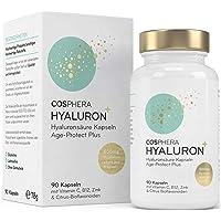 Hyaluronzuur-capsules – hoge dosis met 500 mg per capsule. 90 veganistische capsules in 3 maandvoorraad - 500-700 kda…
