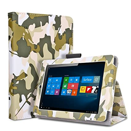 TNP Microsoft Surface Pro 4 Case (Camouflage Army Green) - Slim Synthetic  Leather Folio Stand Cover with Auto Sleep Wake and Stylus Holder for