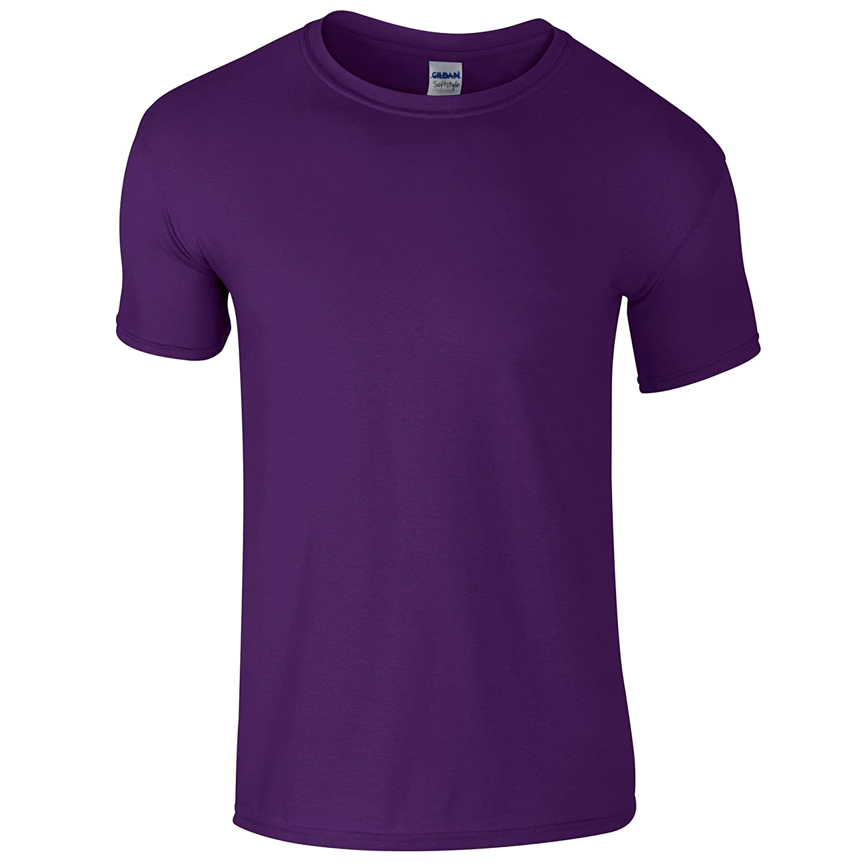 (ギルダン) Gildan メンズ ソフトスタイル 半袖Tシャツ トップス カットソー 男性用 B00AWVUPCA XX-Large|パープル パープル XX-Large