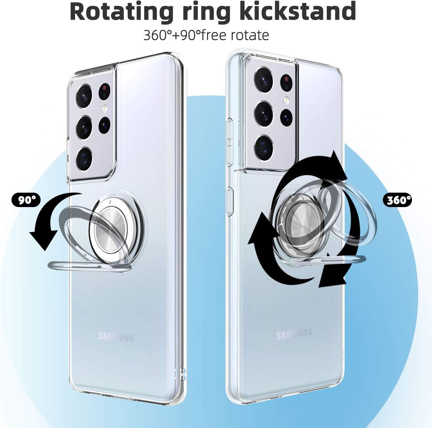 6,7 Pulgadas Cobertura Completa Funda para Samsung S21 Plus con Uno Suave TPU Transparente Gel Silicona Anti-ca/ída Protectora Carcasa para Samsung Galaxy S21 Plus 5G Protector de Pantalla