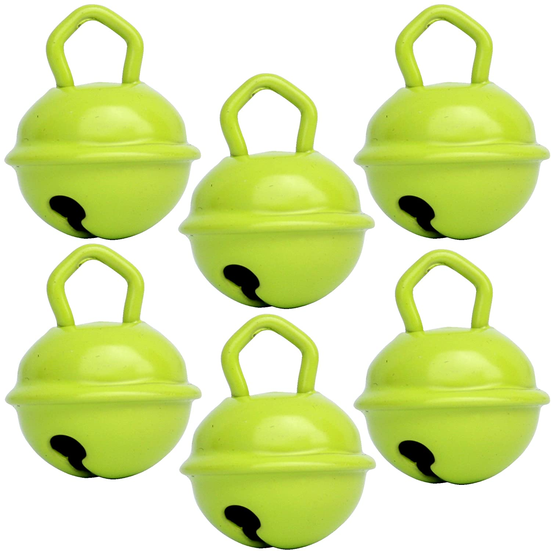 Cascabel verde lima (X 6 cascabeles de 15 mm vert-jaune) latón macizo: Beau sonido + NE herrumbre pas - musikid cascabeles gigantes Gros medios pequeños + ...