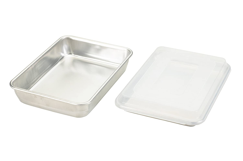 Nordic Ware Natural Aluminum Commercial 3-Piece Baker's Set, Quarter Sheet and Cake Pan 45339