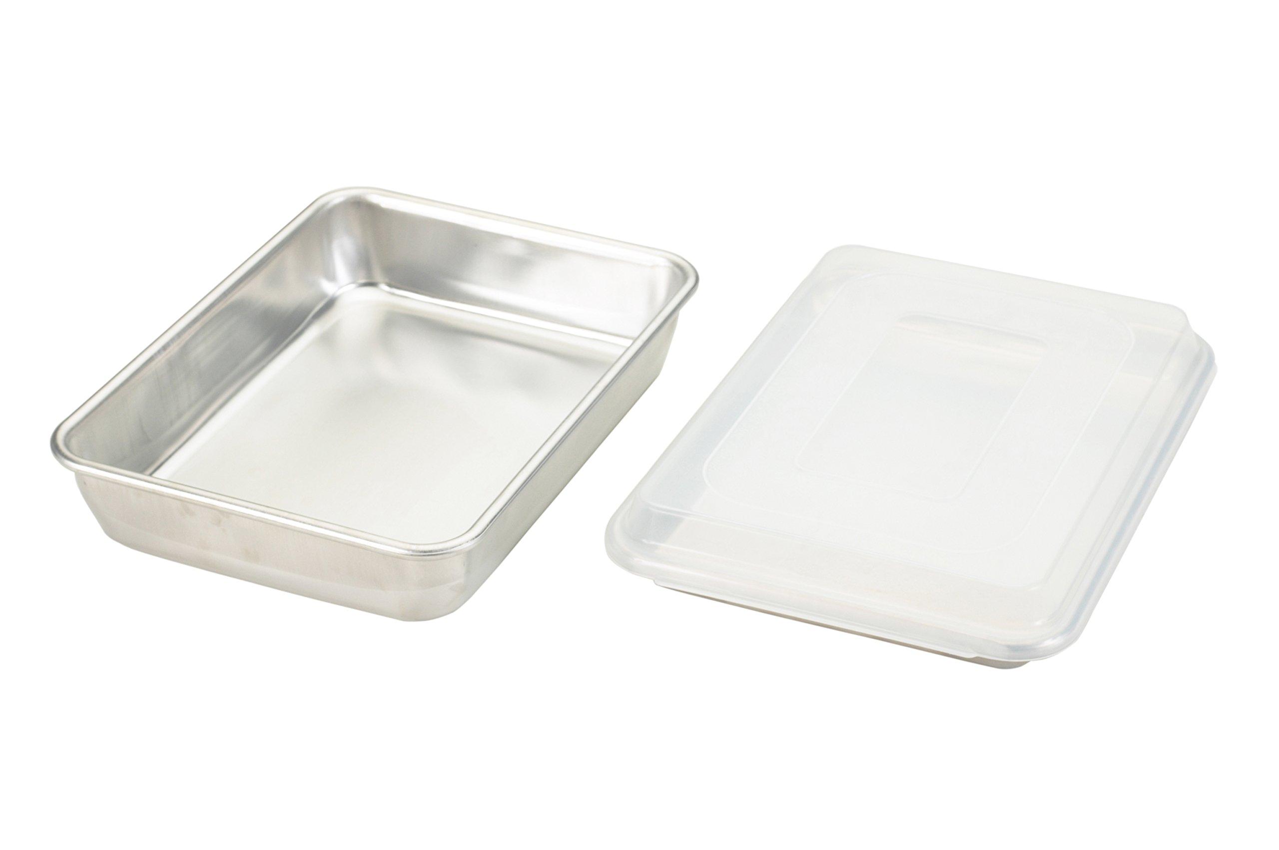 Nordic Ware Natural Aluminum Commercial 3-Piece Baker's Set, Quarter Sheet and Cake Pan