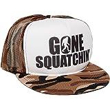 Gone Squatchin' Unisex-Adult One-size Trucker Hat Camo/White