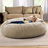 Jaxx 6 Foot Cocoon Large Bean Bag Chair for Adults, Camel