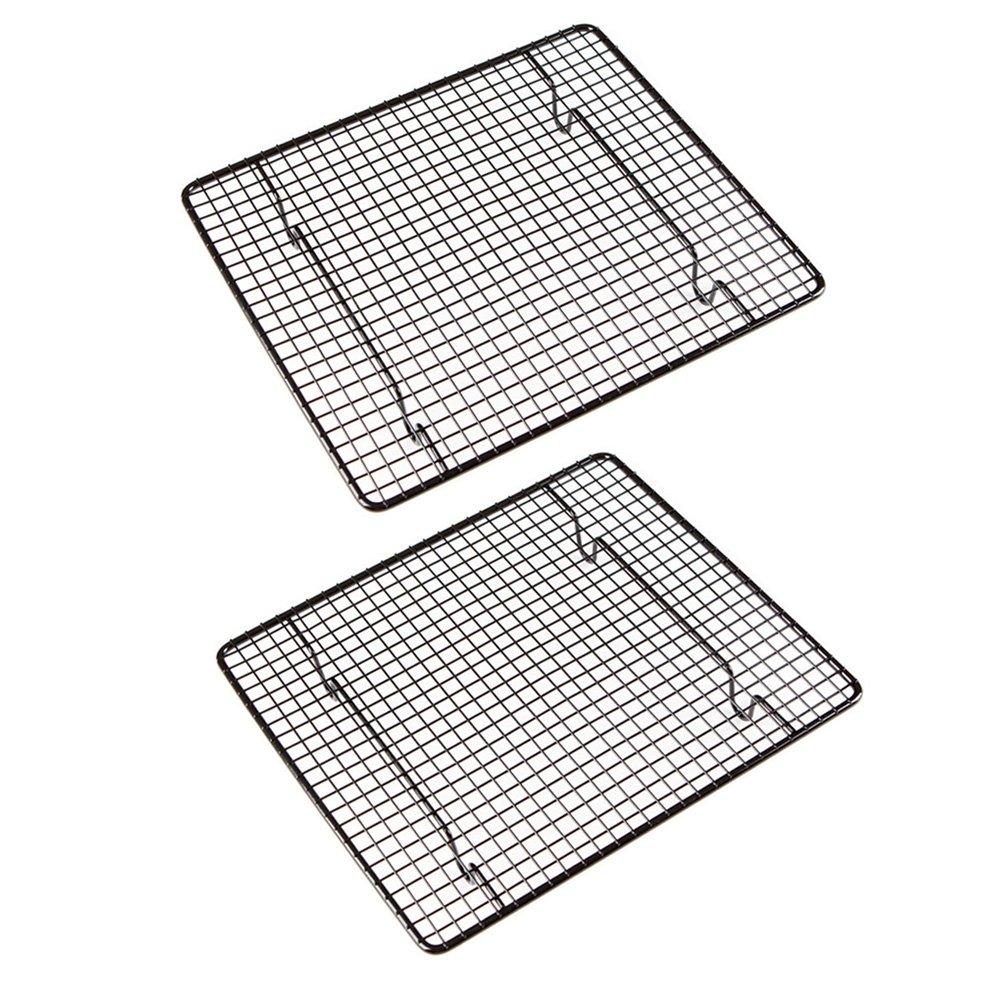 AmgteEu Set of 2 Cross Wire Grid Nonstick Cooling Rack ~ Oven Safe, 10 Inch x 9 Inch COMINHKPR87980