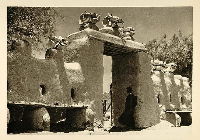 amazon com 1935 gate bol chad africa architecture photogravure