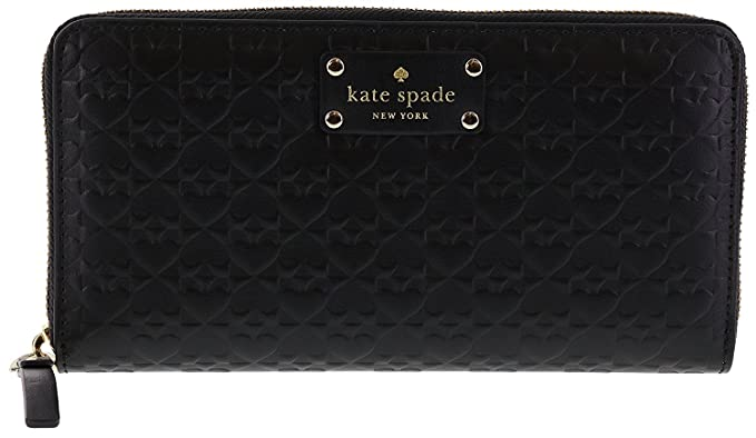 0335143ac9de Kate Spade New York Penn Place Embossed Neda Leather Continental Wallet ( Black)