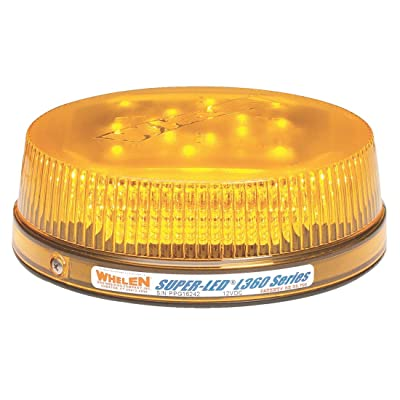 Whelen Engineering L32 Series Super-LED Beacon - Low Dome, Flat Permanent Mount - Amber: Automotive