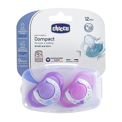 Chicco - Chupete de silicona Compact Niña, 16-36 meses, 2 ...