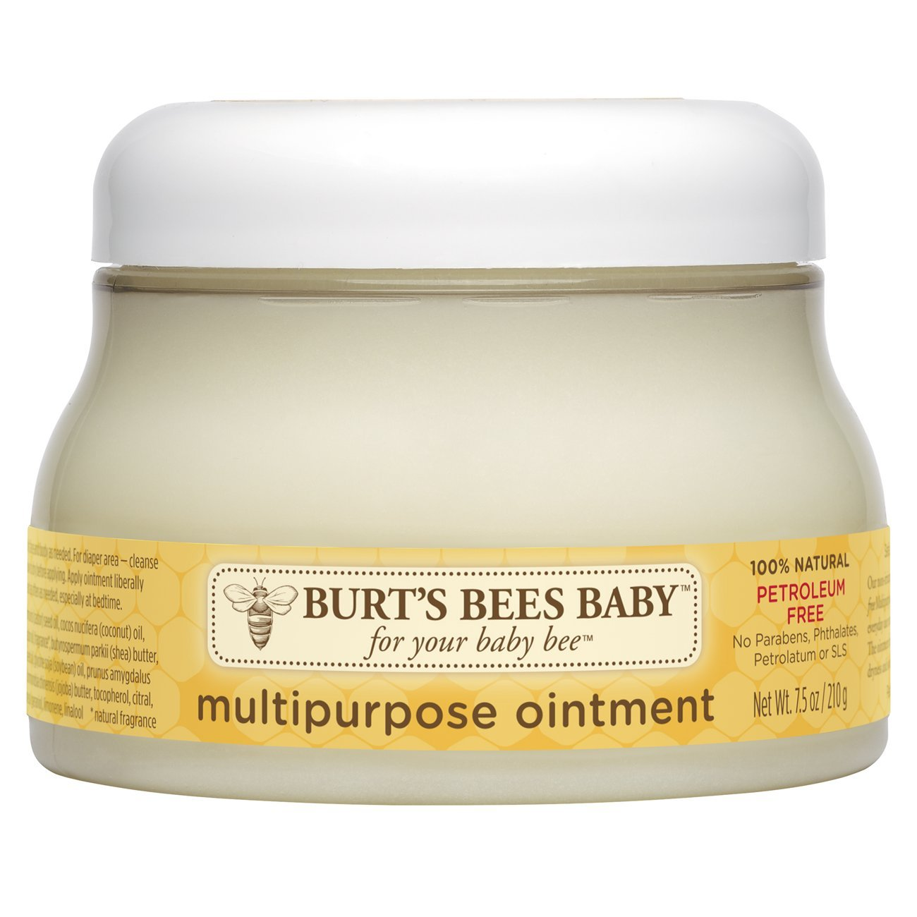 Burt's Bees Baby 100% Natural Multipurpose Ointment, Face & Body Baby Ointment - 7.5 Ounces