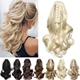S-noilite Claw Ponytail Extensions Clip in Jaw Ponytails Hairpiece Hair Extension Synthetic Fibre Hair Women Lady Girls…
