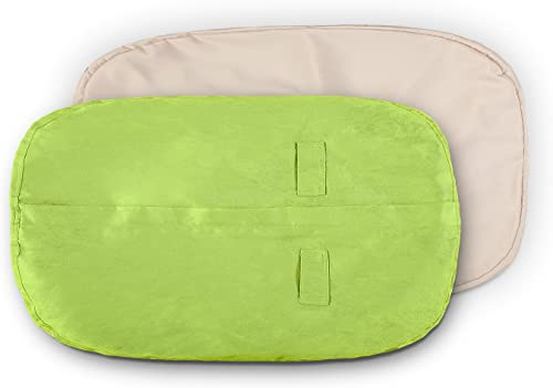 Lumaland Luxury Microsuede Outer Cover for Bean Bags Machine Washable 7-Foot Bean Bag Cover with Inlay in Light Green