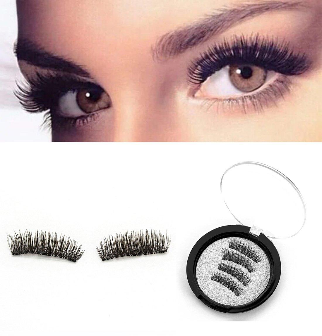 86a0fbbdc7a Amazon.com : Reusable Magnetic Lashes False Eyelashes Natural Look & 100%  Handmade & False Eyelashes : Beauty