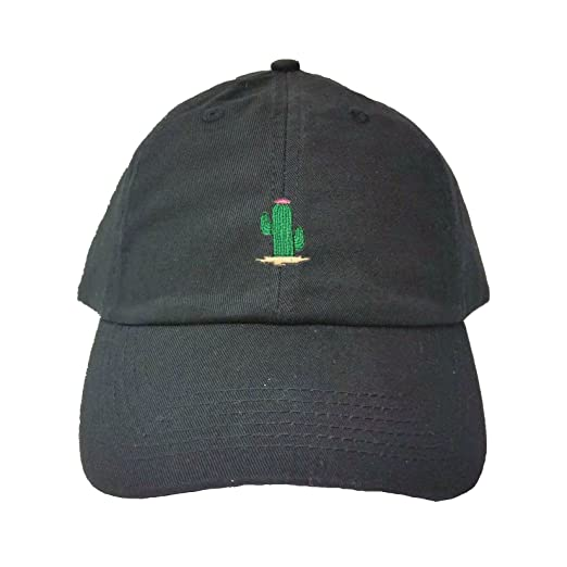 Amazon.com  Go All Out Adjustable Black Adult Cactus Embroidered Dad ... 448d8e0e3752