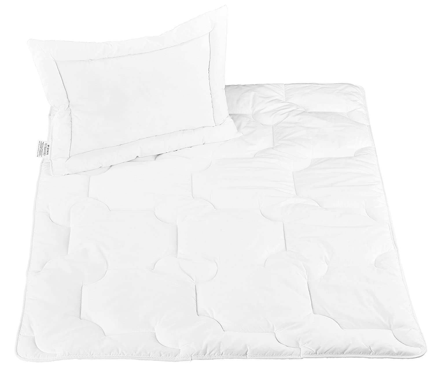 'ZOLLNER Boil-Proof Quilted Children/Baby Pillow & Duvet Set, Direct from The Manufacturer Hotel Linen Bambini