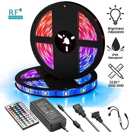 5M 5050 SMD RGB Flexible Strip LED Light Waterproof Muti color 12V 300LED Lamp B