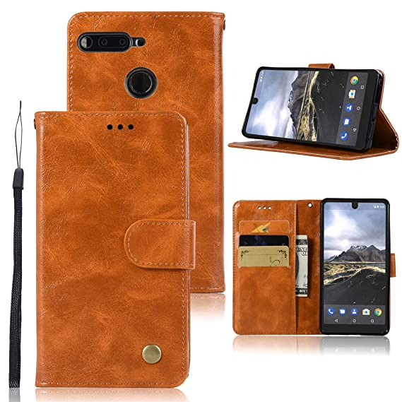 the best attitude dacdc d9dae Essential Phone PH-1 Case, Zoeirc Hybrid PU Leather Drop Protection Folding  Folio Style Wallet Slots to Hold Cards Stand Pouch Flip Case Cover For ...