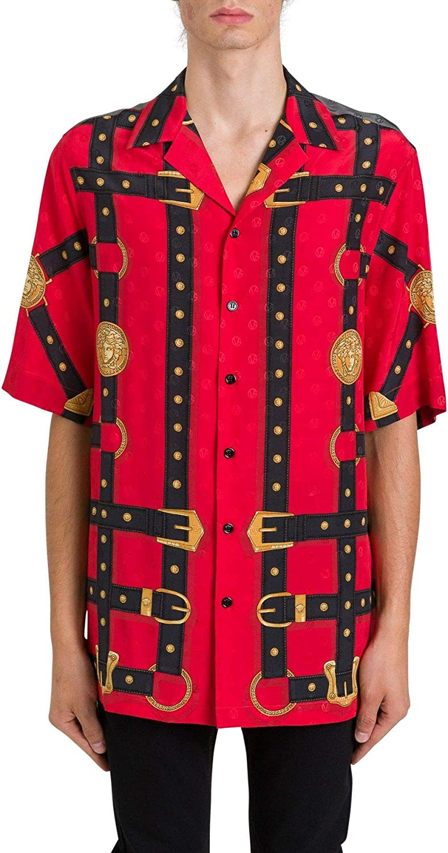 Versace Luxury Fashion Hombre A81630A231509A743 Rojo Camisa ...