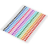 DECORA 300 Pieces Bling 5mm Multicolor Rhinestone Stickers Sheet Gem Diamond Self Adhesive
