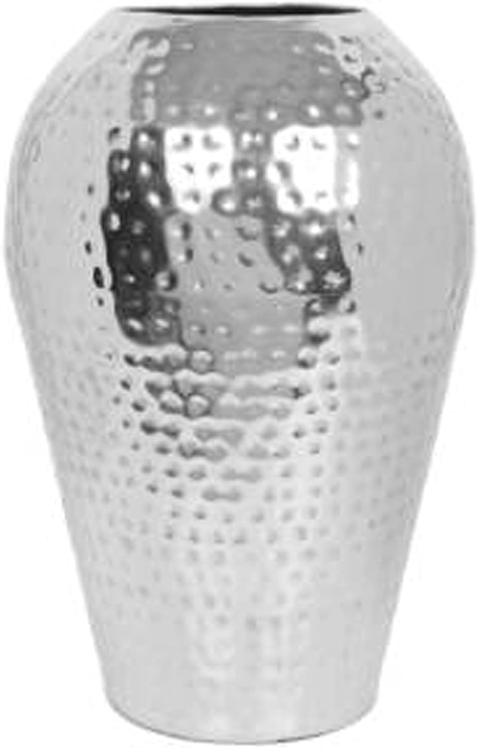 "Hosley's 10"" High Hammered Iron Floor Vase. Handcrafted By Artisans Using Centuries Old Hammer Pattern Techniques. Ideal Wedding Gift, Decor, Aromatherapy or Spa Settings O3"