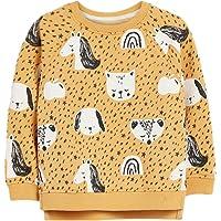 Surwin Sudadera Cuello Redondo para niños Unisex Jersey Manga Larga Algodón Suave Casual Camiseta Superior Ropa Invierno…