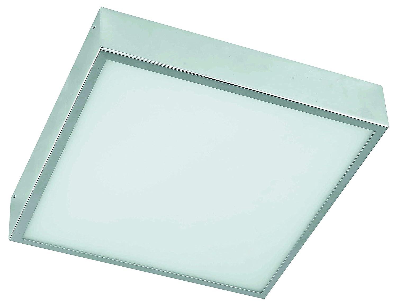 RABALUX Bad Deckenleuchte, Glas, E27, Silber