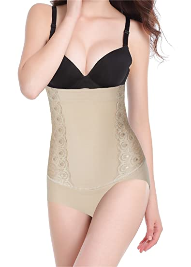 c2b4719756ef6 Image Unavailable. Image not available for. Color  Women Body Shaper Tummy  Control Waist Trainer Cincher Jacquard Butt Lifter Shapewear