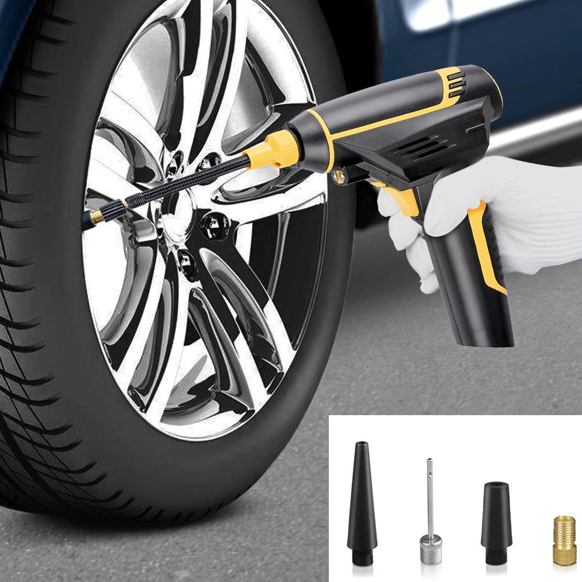Bicicletta Compressore Portatile per Auto Mini Compressore Ricaricabile Pompa con Schermo LCD Cuscino dAria 150PSI per Auto,Moto Giochi con La Palla