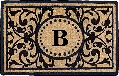 Nedia Home Heavy Duty Heritage Coco Mat, Monogrammed B, 18 x 30