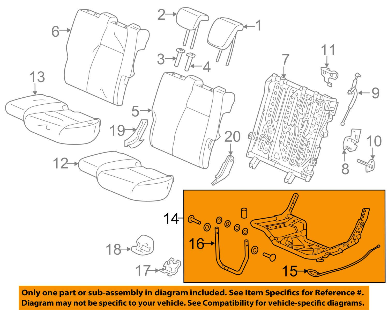 Honda Genuine 82536-T5R-A11 Seat Cushion Frame
