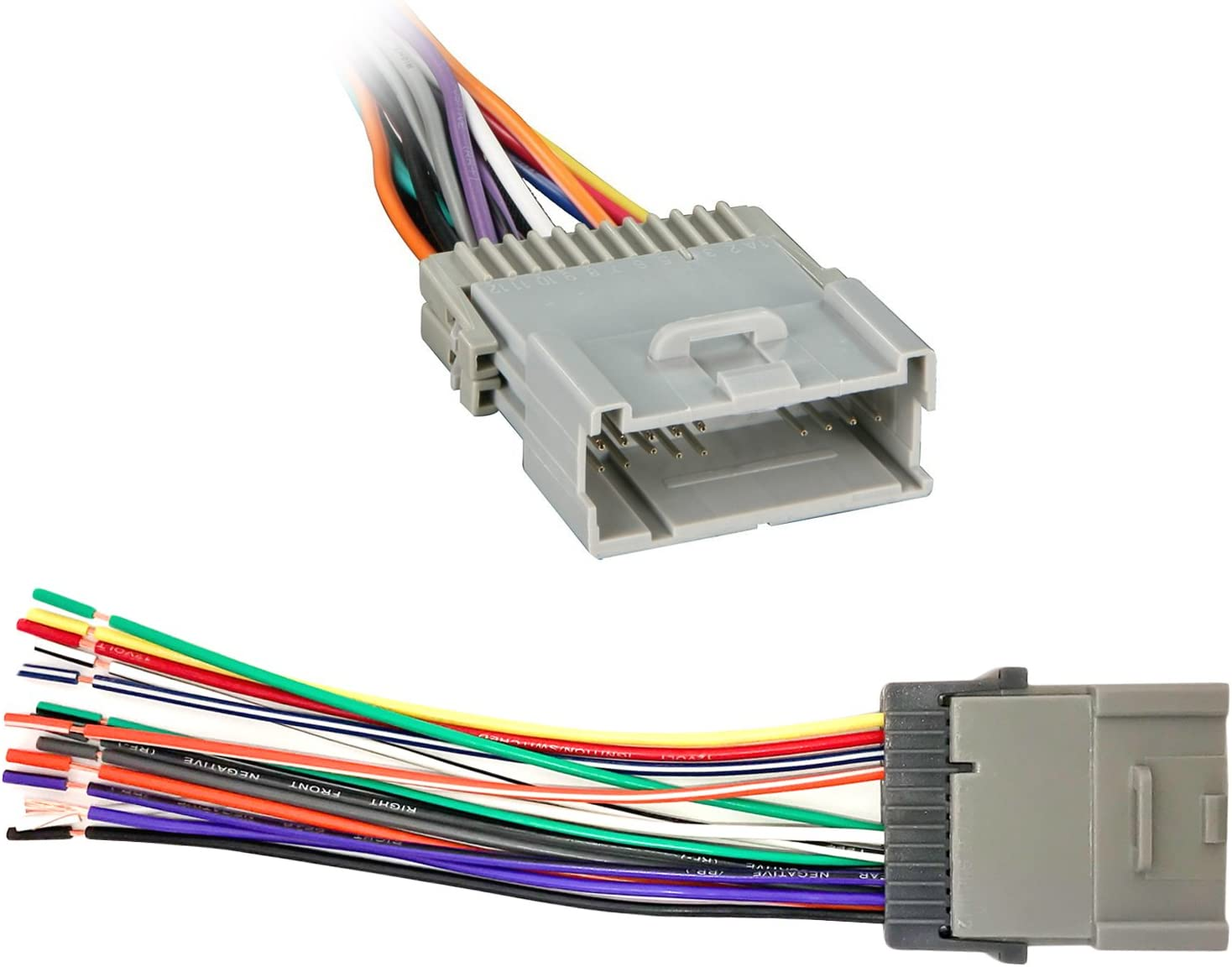Chevrolet Pontiac /& Toyota Vehicles 2000-2008 Enrock EGMWH98-08 Wiring Harness for Connection of a Stereo for Select GM
