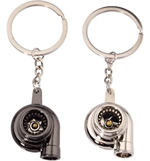 JOKHOO Turbo Turbocharger Keychain Key Chain Ring Keyring Keyfob,Make Whistle Sound(2 Pack