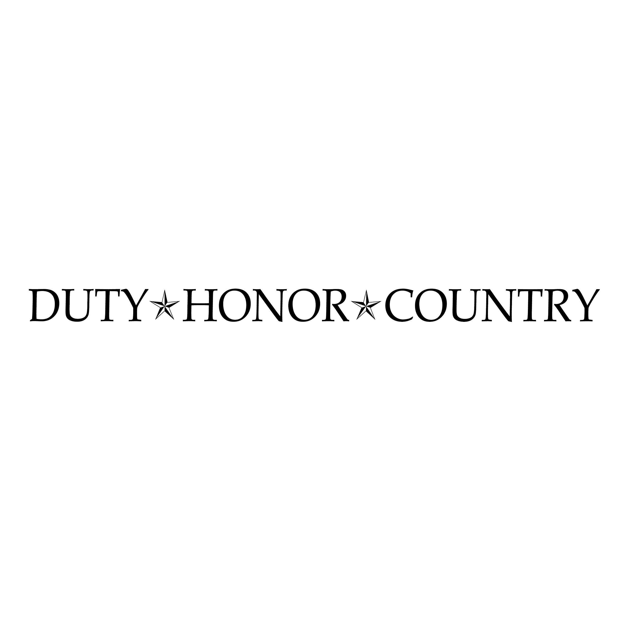 Duty Honor Country Vinyl Wall Decal by Wild Eyes Signs, military wall decal, stars, army, Patriotic wall decal, living room, master bedroom, sticker, military quote HH2160 by WildEyesSigns