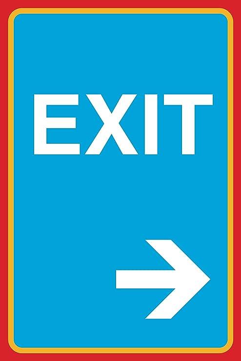 Amazon.com: EXIT Flecha derecha imagen de impresión ...