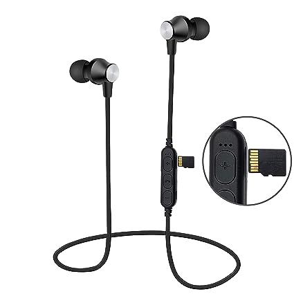 Auriculares Bluetooth Magnéticos Inalámbrico, Reproductor de mp3, Areabi Falcon, Deportivos Estéreo con Micrófono