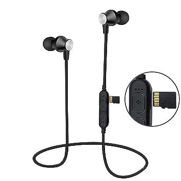 Auriculares Bluetooth Magnéticos Inalámbrico, Reproductor de mp3, Areabi Falcon, Deportivos Estéreo con Micrófono, Cancelación de Ruido, para iPhone, ...