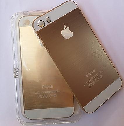 online retailer 194ef c901d Metal Hard Back Case Cover for iPhone 5 & 5S - Gold