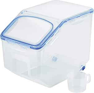 Lock & Lock Classic Airtight Rice Case, 12L with Cup (HPL-510)