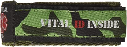 Vital ID Medical ID Wrist Band - Child (Camo Green)