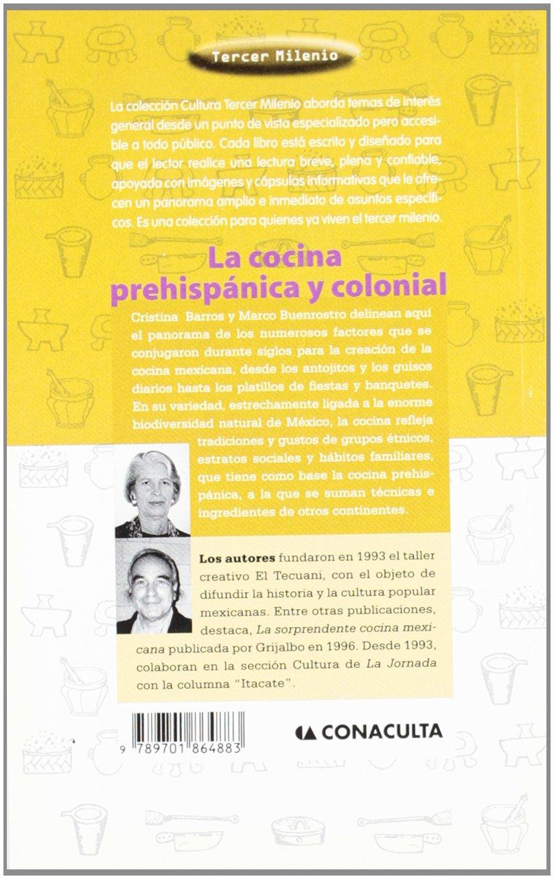 Cocina Prehispanica Y Colonial, La (Tercer Milenio (Mexico City ...