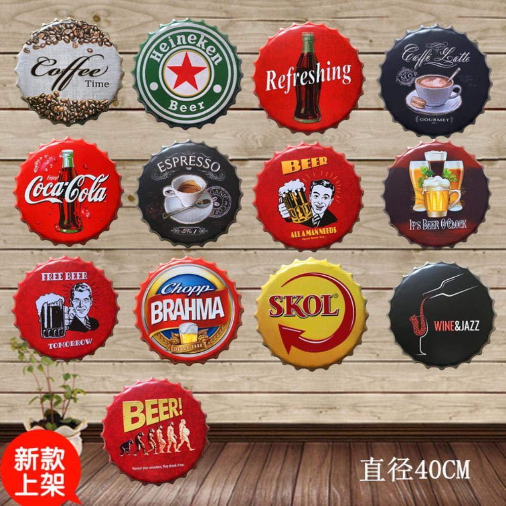 Brahma Gran Cerveza Cubierta Cartel de Chapa Logo Placa ...