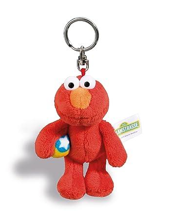 b423d50ac6 Nici 41961 Monster Elmo Sesamstraße Schlüsselanhänger, rot, 10 cm ...