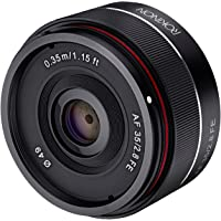 Rokinon 35mm f/2.8 FE Ultra Compact Wide Angle Lens for Sony E Mount (Black)