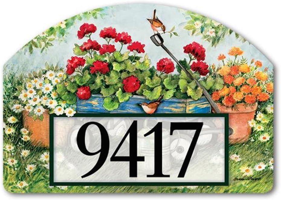 Yard Designs Geraniums by the Dozen Yard Sign #71103