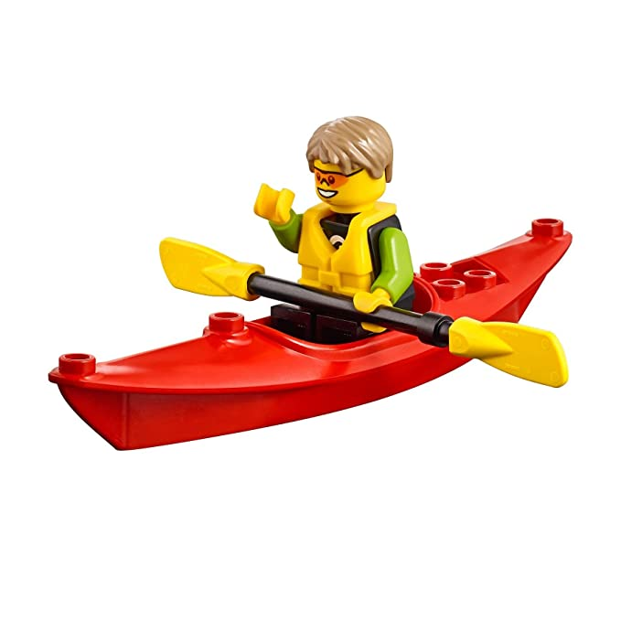 Amazon.com: LEGO City beachgoer Minifigura: Kayaker (W/kayak ...
