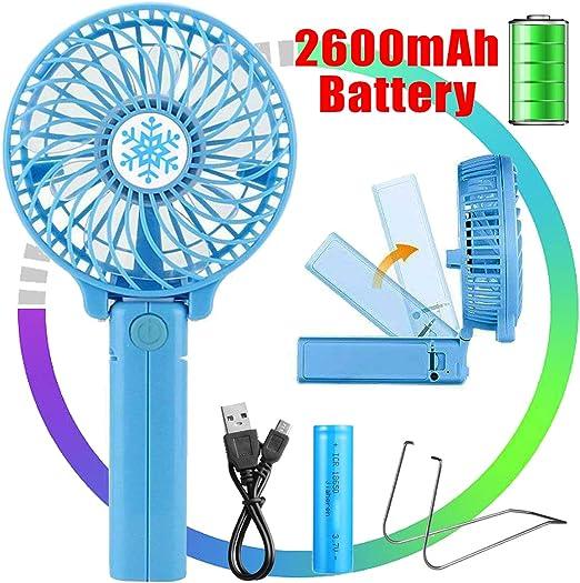 Ventilador portátil de mano VIDEN, mini ventilador de mano ...