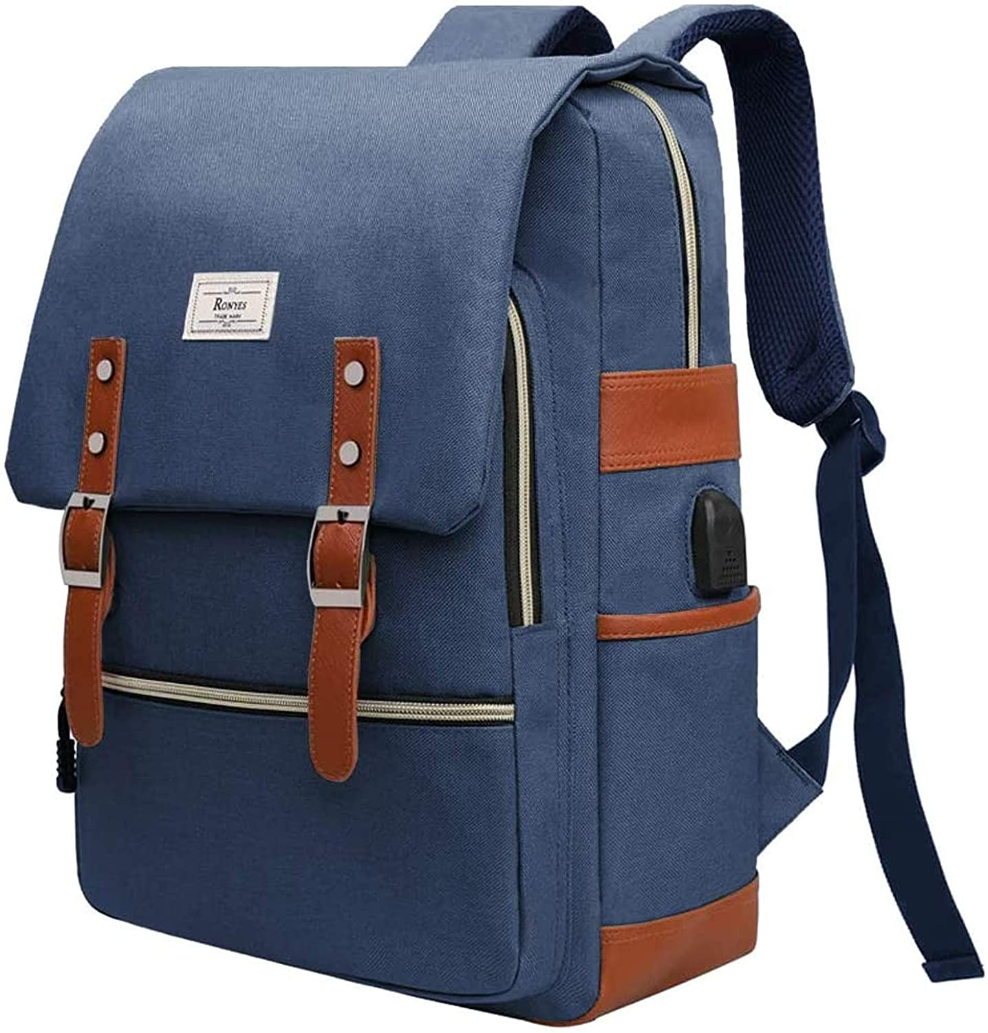 School Backpack Vintage Rainbow Trout Fish College Notebook Daypack Casual Outdoor Rucksack,for Boys,17inch