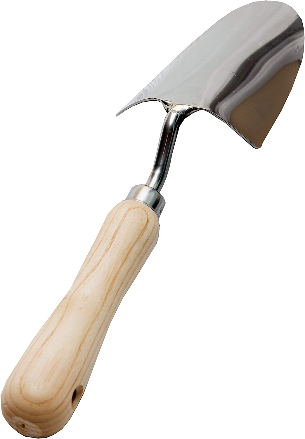 Shovel and Plant /& Transplanter Trowel Premium for Digging and Planting Heavy Duty Stainless Steel Smooth Vintage-Style Natural Ash Wood Handle and Leather Strap Dig Cates Garden Hand Trowel